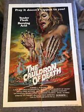 "THE CAULDRON OF DEATH 1979 ORIG 1 SHEET MOVIE POSTER 27""x41"" (VF) AKA HEAVY DUES"