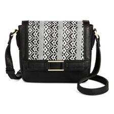 264d90df7b55 Merona Fashion Faux Leather Black White Aztec Crossbody Handbag Purse NEW  (tsh8