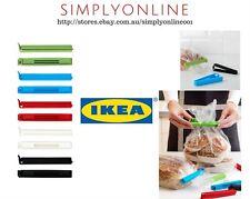 20 x IKEA Bevara Large Plastic Food Storage Bag Sealing Clips Lock 11cm
