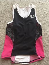 Pearl Izumi Junior Tri Singlet Tank Top Size Large Black White Pink