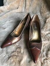 Genuine PRADA Vintage Pointy Heels With Sequin Kitten Sz 37 Still Good Condition