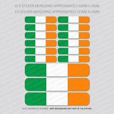15 X Irlandais Irlande Tricolore Drapeau Autocollants-Voiture-Moto-Casque - SKU5856