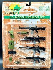 "1:6 Ultimate Soldier US Modern Weapons Set 12"" GI Joe M16 M4 Rifle Lot Dragon"