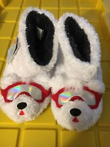 Cat & Jack™ White Kids' Polar Bear Bootie Slippers Size Medium 2-3 ~ NWT