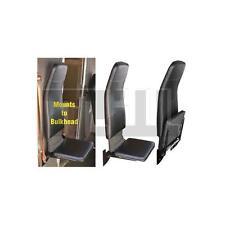 HIGHBACK PASSENGER FLIP JUMP SEAT,STEPVAN,GRUMMAN,UTILIMASTER BLACK VINYL