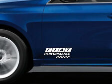 2 x Performance Aufkleber passt Fiat 126 500 Panda Freemont Coupe Emblem Logo
