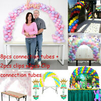 DIY Balloon Arch Kit Balloons Column Stand with Frame Base Pole Ballons Clips UK