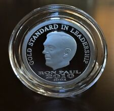 2010 RON PAUL .999 FINE PROOF SILVER, HALF OUNCE 1/2 oz. ~ Round Medallion