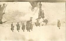 C-1910 Occupation Workers digging trench winter View RPPC real photo 7179