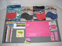 KIDS Students Back to School Supplies pencil case bookcovers erasers post it LOT