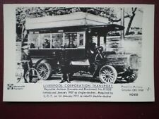 POSTCARD RP LIVERPOOL CORPORATION BUS NO K1532 C1910