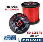 FILO NYLON TRAINA BIG GAME 50 LB RED DRAGON COLMIC mt 800