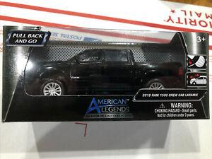 American Legends 2019 Dodge Ram 1500 Crew Cab Laramie Black 1:43 New