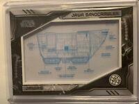 2019 Topps Skywalker Saga Jawa Sandcrawler Commemorative Blueprint Card /250