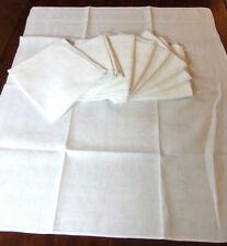 Lot de 9 serviettes de table damassées anciennes  - linge déclassé 2è choix
