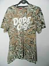 DOPE CHEF Mens Camouflage T-Shirt Size Small Round Neck Short Sleeved Top