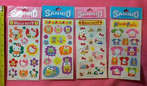 4 Vintage 1990s Sanrio Hello Kitty Pekkle Keroppi Die Cut Sticker Packs Lot NIP