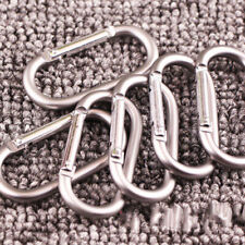Alloy Metal Climbing Hiking oval Carabiner Ring Buckle Snap Hook Keychain