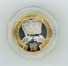 GB 2008 UK Olympic Games Handover £2 Piedfort Silver Proof Coin in Case with COA