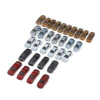 30pcs Model lighted Cars Train Railway Scenery Layout N Scale 1:150