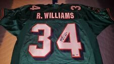 RICKY WILLIAMS MIAMI DOLPHINS AUTHENTIC REEBOK SIGNED JERSEY - PSA/DNA
