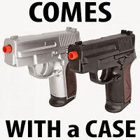 NEW TWIN AIRSOFT DUAL SPRING PISTOL COMBO PACK Set Hand Gun w/ Case 6mm BB BBs
