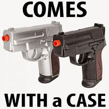 NEW Twin Airsoft Spring Pistols Dual Handgun Dueling Pistol Gun P618SB Combo SET