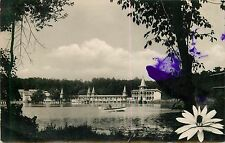 Hungary Heviz Strand postcard purple ink damage