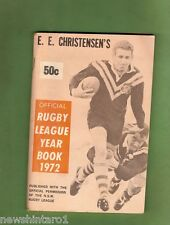 #RR.  1972 E.E. CHRISTENSEN'S RUGBY LEAGUE YEAR BOOK -  GRAEME LANGLANDS COVER
