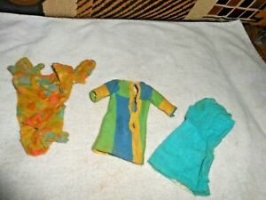 VTG 1960'S TWIGGY  FRANCIE  DRESSES NEEDS REPAIR WASHED  SEE PCIS