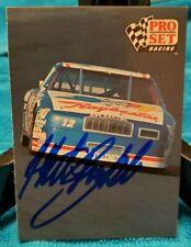 Hut Stricklin NASCAR hand signed autograph 1991 ProSet racing card Raybestos