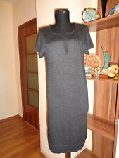PRINCESS GOES HOLLYWOOD GREY GRAPHITE THIN KNIT SLEEVELESS DRESS TUNIC-S,8-UK