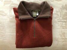 Ermenegildo Zegna Men's Cashmere Sweater size XL/54 rust Made in Italy 1/4 zip