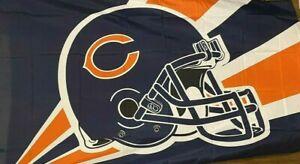 Chicago Bears HELMET DESIGN 3 x 5 FLAG ! FAST SHIPPING !