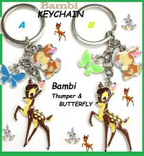 Disney Bambi, Thumper and Butterfly Pendant PURSE CHARM Keychain keyrings Bambi