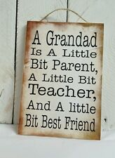 Handmade plaque sign gift present friends family grandad dad quote  christmas