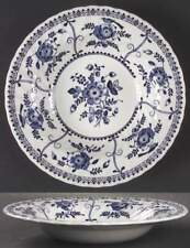 Johnson Brothers INDIES BLUE Rimmed Soup Bowl 10467453