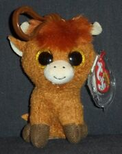 TY BEANIE BOOS - ANGUS the COW KEY CLIP - MINT with MINT TAG - UK EXCLUSIVE