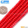 """Pink Red White Grade AB+ Coral Gemstone Rondelle Spacer Beads Free Shipping 15"""""""