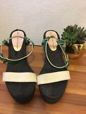 Marc by Marc Jacobs Black And Green Wedges Size 9.5