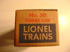 Lionel No.50 Gang Car Corrugated Licensed  Box