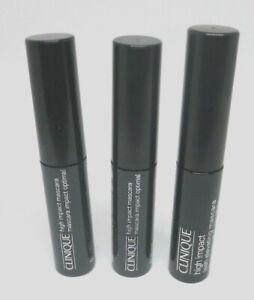 Lot Of 3 Clinique High Impact Mascara - 01 Black - 0.14 oz ( x 3 ) -