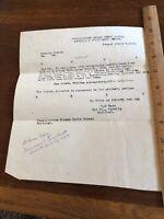 Vintage 1919 original post WWI Officer Army Travel Paper in France