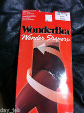 WonderBra Wonder Shapers PANTY HOSE w/ trim line size B, cotton lined gusset