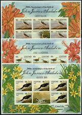 Lesotho 1985 Audubon Gemälde 525-530 Kleinbögen Cromalin Proof MNH RAR / 99