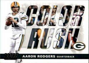 2017 Score #6 AARON RODGERS  Color Rush Green Bay Packers Football
