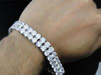 20 Carat Round Brilliant Cut Diamond Tennis Bracelet In 14K White Gold