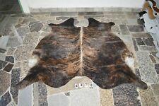 BRINDLE EXOTIC-  Rug HAIR ON SKIN  Leather cowhide 4370-   71'' x  66''