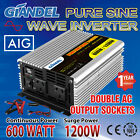 Large Shell Pure Sine Wave Power Inverter 600W/1200W 12V/240V USA Transistors