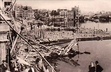 TOULON GUERRE 14-18 WW2 les ruines du port de SIENNE à BELFORT